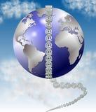 Symbol at and world Royalty Free Stock Image