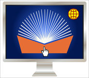 Symbol for Worldwide E-Learning Royalty Free Stock Images