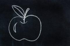 Symbol written in white chalk Stock Photos