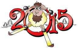 Symbol of year 2015 Stock Photos