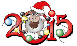 Symbol of year 2015. Lovely lamb Royalty Free Stock Photo