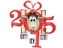 Symbol of year 2015. Lovely lamb Royalty Free Stock Images