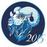 Symbol of 2015 year. Ornament and decorative sheep symbol of 2015 Royalty Free Stock Photos
