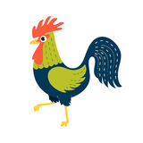 Symbol of the year 2017. Rooster. Can be used as illustration fo. R greeting card, invitation, flyer Royalty Free Stock Photos