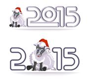 Symbol of the year - sheep Stock Photography