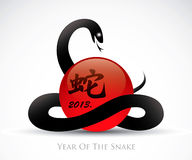 Symbol for the year of the snake Royalty Free Stock Image