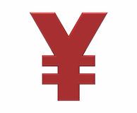 Symbol of yen, 3D rendering Stock Image