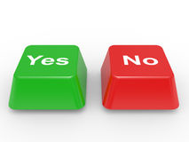 Symbol Yes and No Stock Images