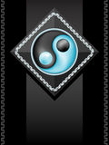 Symbol yin yang. Background with east symbol yin yang in a vector - mesh Stock Photography