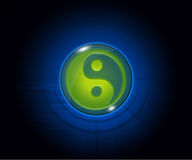 Symbol of yin and yang on the background Royalty Free Stock Image