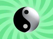 symbol yin Yang bilansu płatniczego Obrazy Stock
