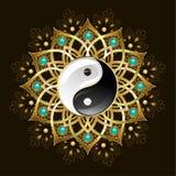 Symbol of yin yang mandala Stock Photography