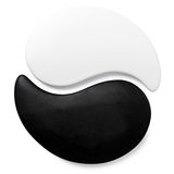Symbol Yin-Yang of stone texture, the sign Royalty Free Stock Images