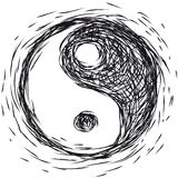 Symbol Ying  yang Royalty Free Stock Photos
