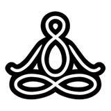 Symbol: Yoga poserar med korsade ben stock illustrationer