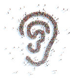Symbol of your ear. Royalty Free Stock Photos