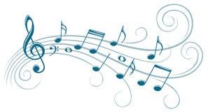 Symbol z muzycznymi notatkami ilustracja wektor