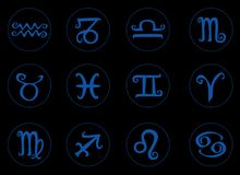 Symbol Zodiac Sign. Of circle vector Stock Image