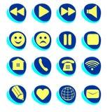 Symbolanslutning, mejl, lek, paus, telefon, kommunikationsse Arkivfoto