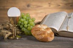 Symbolchristentumsreligion, Kommunionshintergrund lizenzfreie stockbilder
