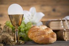 Symbolchristentumsreligion, Kommunionshintergrund stockbilder