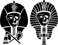 Symbole égyptien de la mort Photographie stock libre de droits