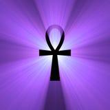 symbole égyptien de lumière de durée d'épanouissement d'ankh Images libres de droits