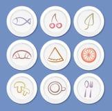 symbole żywności Obraz Royalty Free