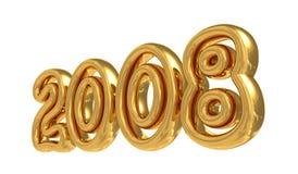 Symbole 2008 d'an neuf Image stock