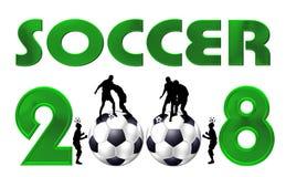 Symbole 2008 du football Photographie stock libre de droits