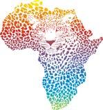 Symbole abstrait Afrique dans le léopard Photo stock