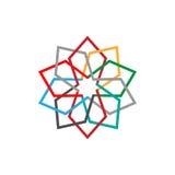 Symbole abstrait coloré d'icône d'Eco Illustration de vecteur d'isolement sur le fond clair Conception graphique de mode Concept  illustration stock