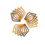 Symbole abstrait d'icône de logo Illustration de vecteur d'isolement sur le fond Symbole géométrique de la structure complexe Con Images stock