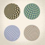 Symbole abstrait de globe, icône ronde Photographie stock libre de droits