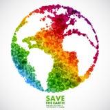 Symbole abstrait de la terre Photos libres de droits