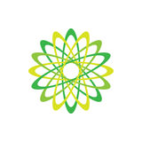 Symbole abstrait de vert d'icône d'Eco Illustration de vecteur sur le fond clair Conception graphique de mode Concept de beauté v Photographie stock libre de droits