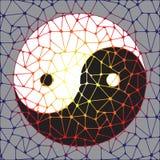 Symbole abstrait de yang de yin Images libres de droits