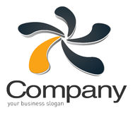 Symbole abstrait du logo 3d Image stock