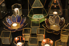 Symbole accrochant de lanterne de lampe de lumière de tradition orientale arabe classique de vintage de l'Islam ramadhan image libre de droits
