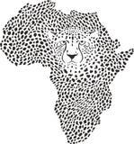 Symbole Afrique dans le camouflage de guépard Photographie stock