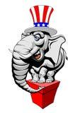 Symbole américain d'éléphant Photographie stock libre de droits