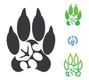 Symbole animal d'empreinte de pas Photographie stock