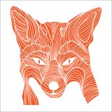 Symbole animal de croquis de Fox Illustration de Vecteur