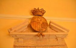 Symbole antique de monastère royal de St Mary d'EL Puig Photo stock