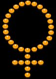 Symbole ardent de femme Photographie stock libre de droits