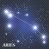 Symbole Aries Zodiac Sign Illustration de vecteur Photographie stock libre de droits