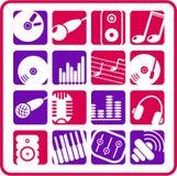 symbole audio royalty ilustracja
