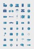 Symbole auf einem grauen Hintergrund. Lizenzfreies Stockbild
