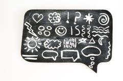 Symbole auf Tafel Stockfotografie