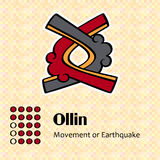 Symbole aztèque Ollin Photos stock